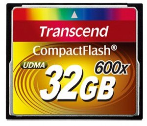 Карта памяти Transcend 600x Compact Flash 32Gb (TS32GCF600)
