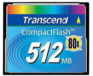 Карта памяти Transcend 80X CompactFlash Card (PIO Mode) 512MB TS512MCF80-P