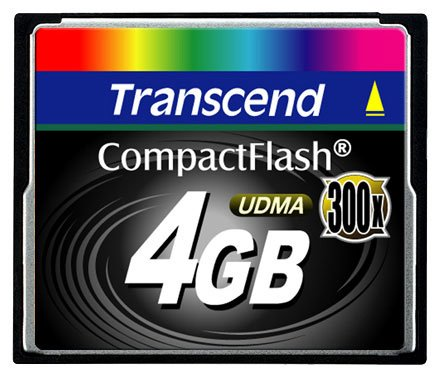 Карта памяти Transcend Compact Flash 4GB 300X TS4GCF300