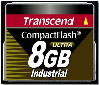 Карта памяти Transcend Compact Flash Industrial 8Gb 100x TS8GCF100I