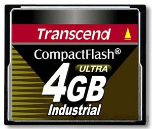 Карта памяти Transcend Industrial Compact Flash 100x 4Gb (TS4GCF100I)