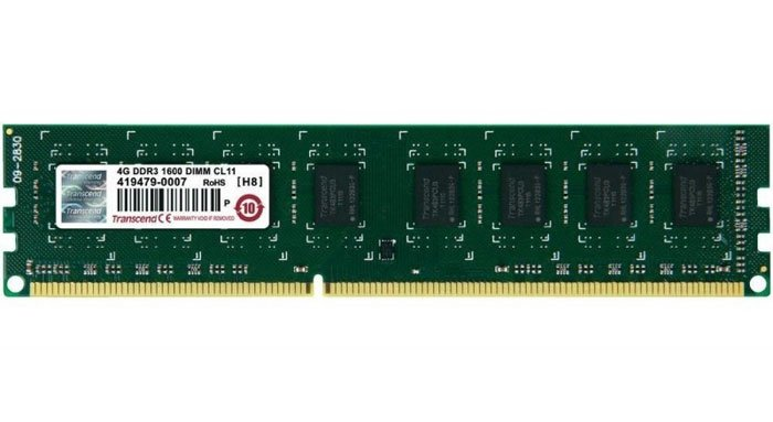 Модуль памяти Transcend JM1600KLN-4G DDR3 PC12800 4Gb