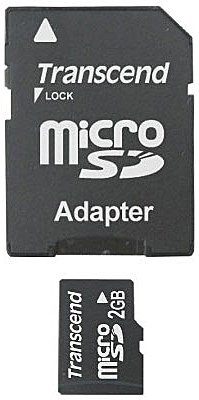 Карта памяти Transcend Micro SD Card 1GB with Card Reader TS1GUSD -S3