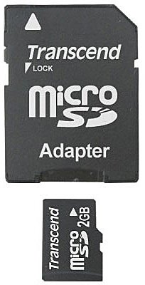 Карта памяти Transcend Micro SD Card 2GB with Card Reader TS2GUSD -S3