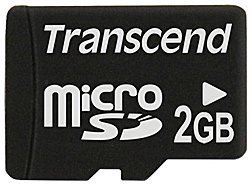Карта памяти Transcend Micro SD Card 2GB without adapter TS2GUSDC