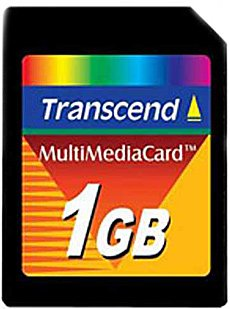 Карта памяти Transcend MultiMedia Card 1GB TS1GMMC