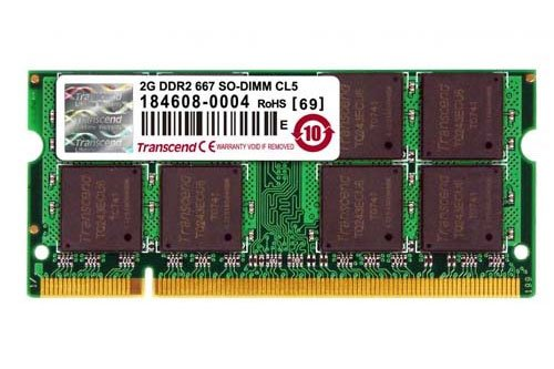 Модуль памяти Transcend TS256MSQ64V6U DDR2 PC5300 2Gb