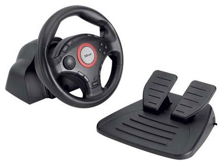 Руль Trust Compact Vibration Feedback Steering Wheel PC-PS2-PS3 GM-3200