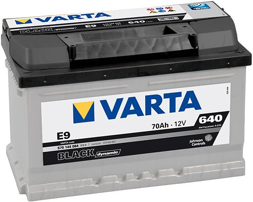 ����������� VARTA BLACK Dynamic E9 570144064 (70Ah)