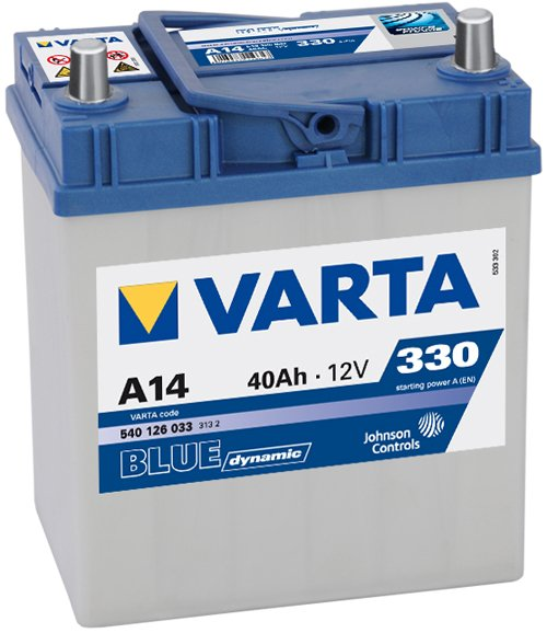 Аккумулятор VARTA BLUE Dynamic A14 540126033 (40Ah)