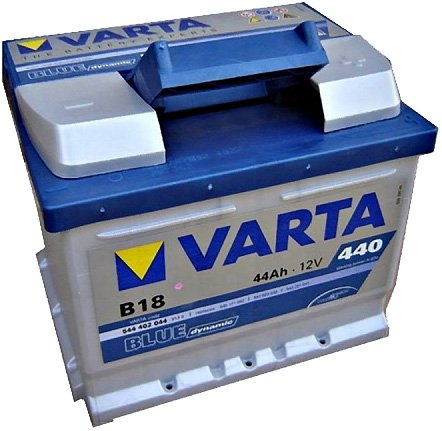 Аккумулятор VARTA BLUE Dynamic B18 544402044 (44Ah) фото