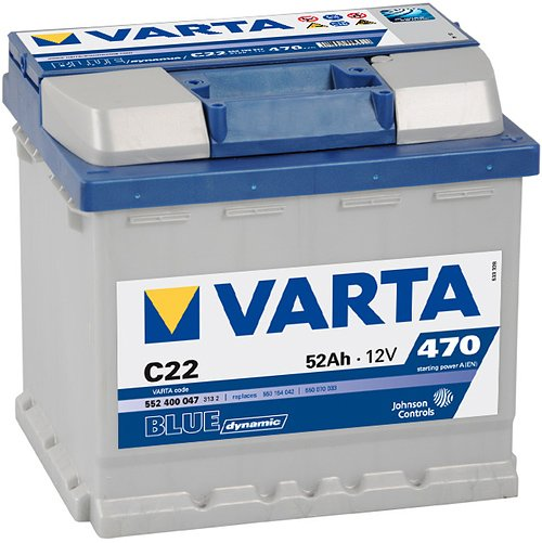 Аккумулятор VARTA BLUE Dynamic C22 552400047 (52Ah)