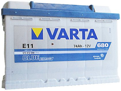 Аккумулятор VARTA BLUE Dynamic E11 574012068 (74Ah)