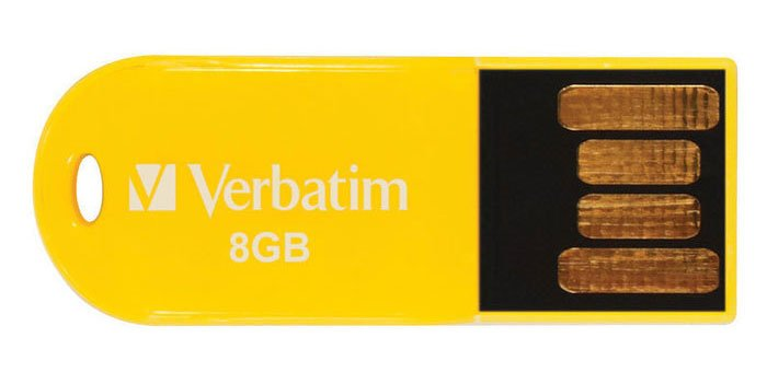 USB-���� ���������� Verbatim Micro 8Gb Yellow