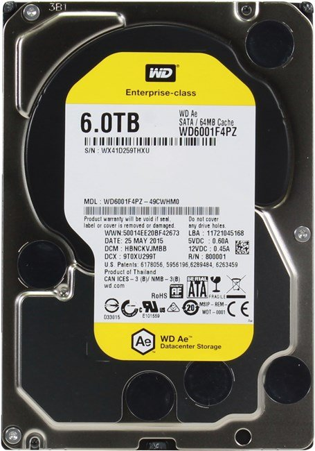 Жесткий диск Western Digital AE (WD6001F4PZ) 6000Gb фото