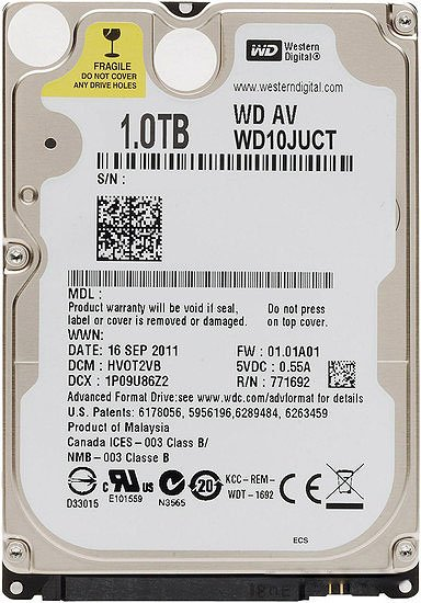 Жесткий диск Western Digital AV-25 (WD10JUCT) 1000 Gb фото