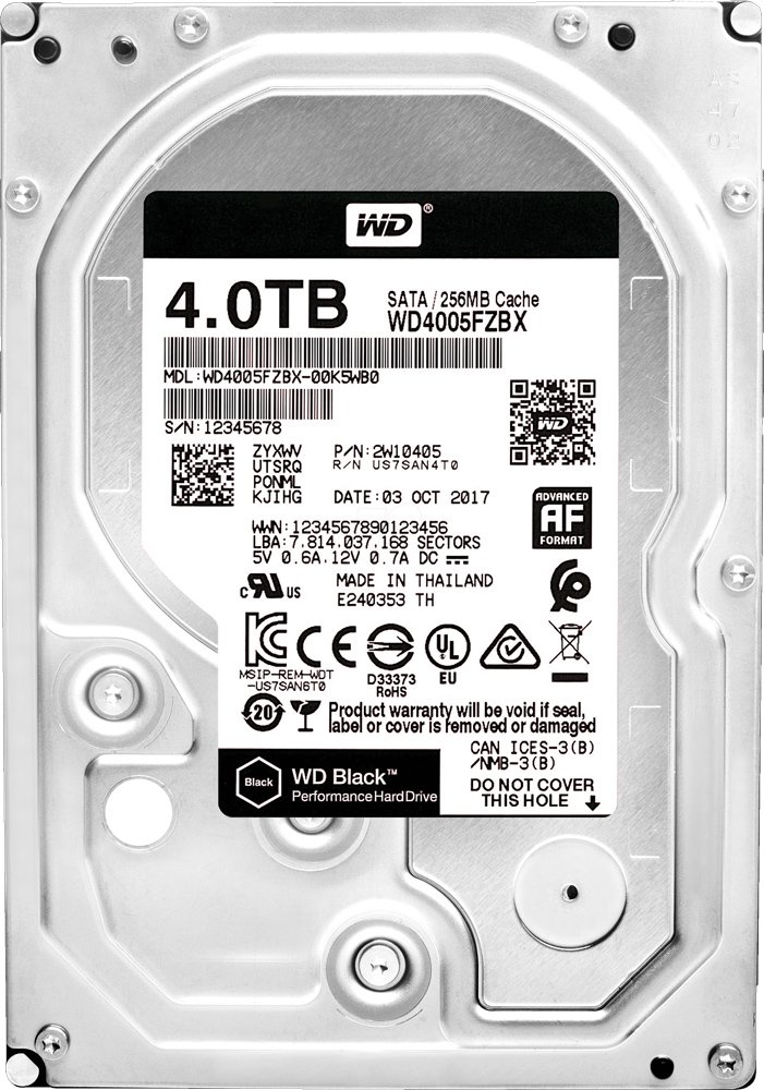 Жесткий диск Western Digital Black (WD4005FZBX) 4000Gb