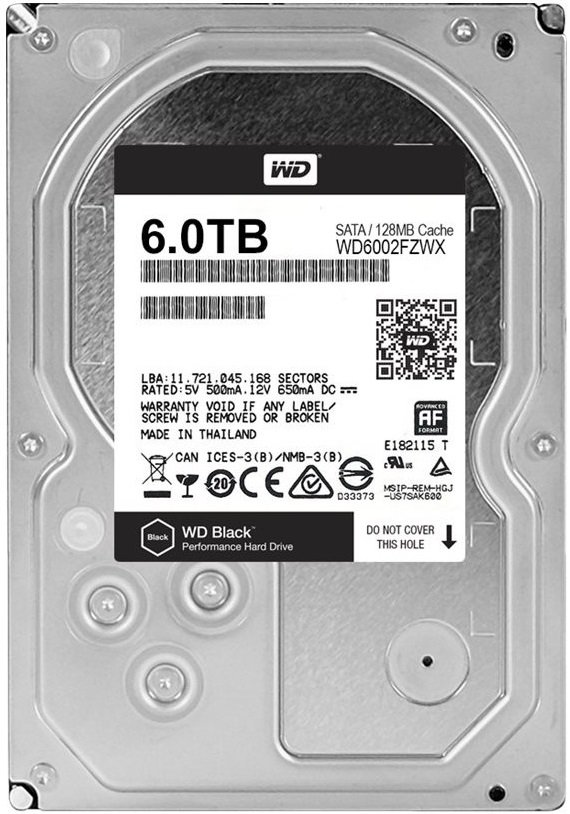 Жесткий диск Western Digital Black (WD6002FZWX) 6000Gb