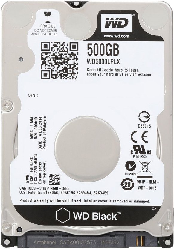 Жесткий диск Western Digital Black (WD5000LPLX) 500 Gb фото