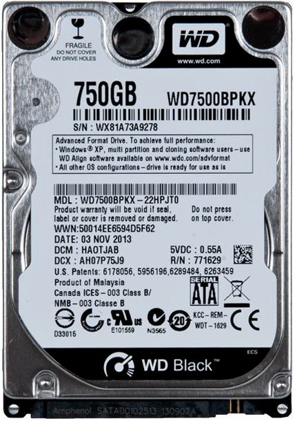 Жесткий диск Western Digital Black (WD7500BPKX) 750 Gb