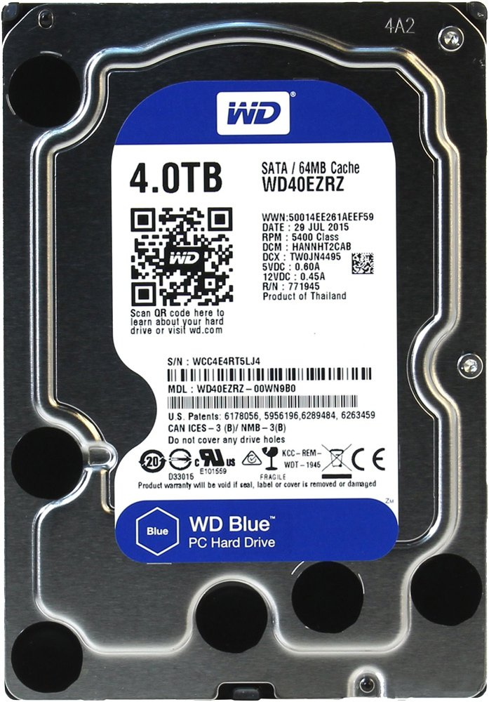 Жесткий диск Western Digital Blue (WD40EZRZ) 4000Gb фото