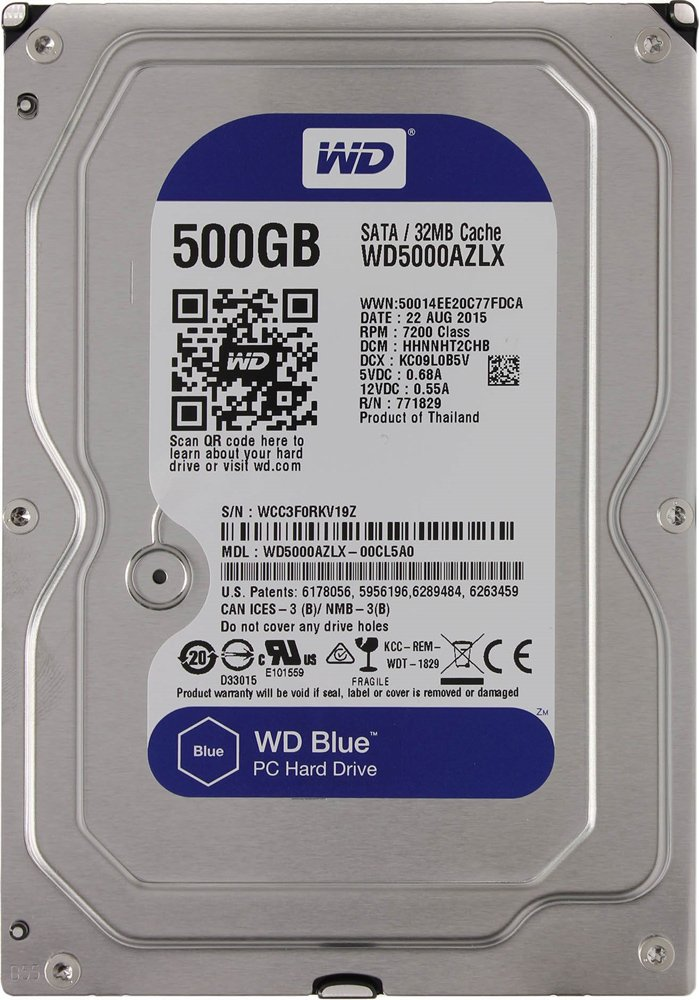 Жесткий диск Western Digital Blue (WD5000AZLX) 500Gb
