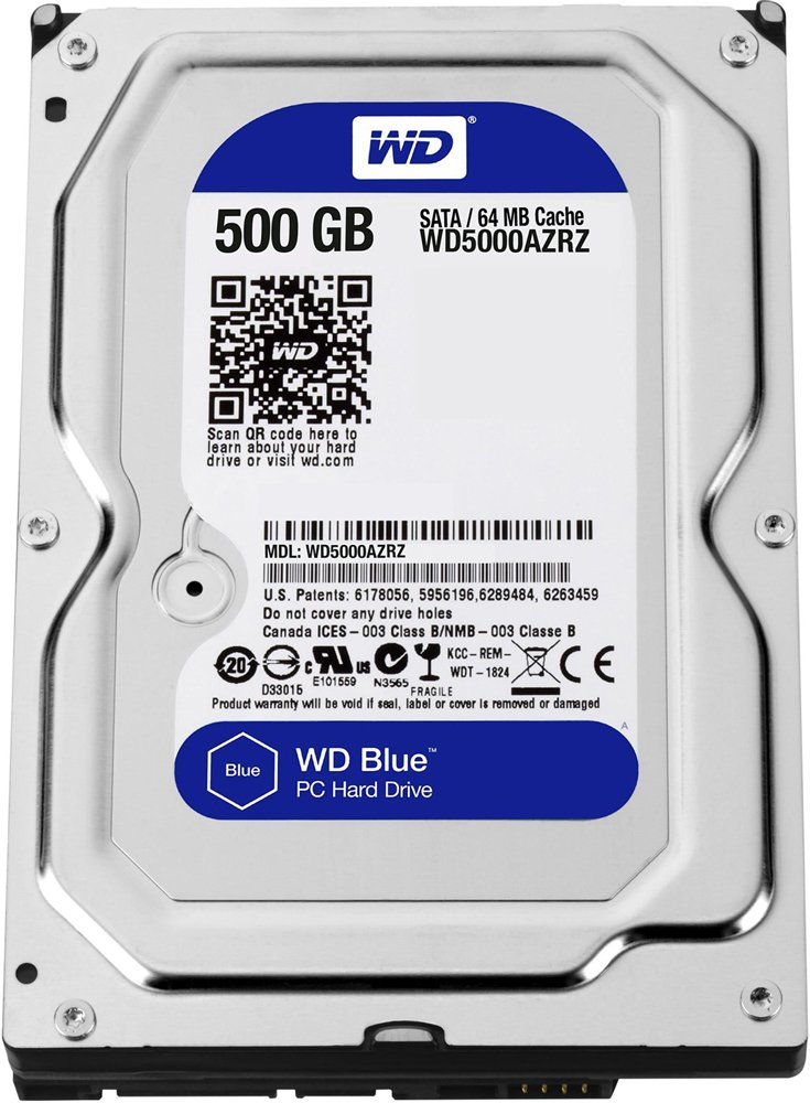 Жесткий диск Western Digital Blue (WD5000AZRZ) 500Gb