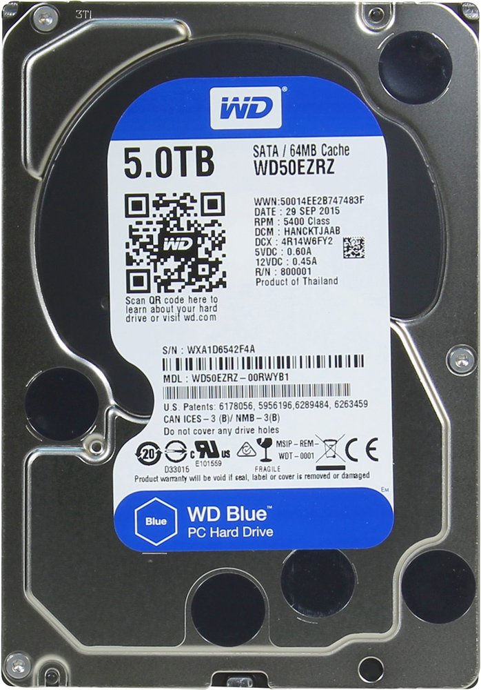 Жесткий диск Western Digital Blue (WD50EZRZ) 5000Gb фото