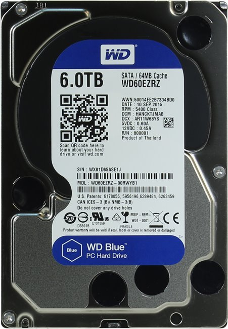 Жесткий диск Western Digital Blue (WD60EZRZ) 6Tb фото