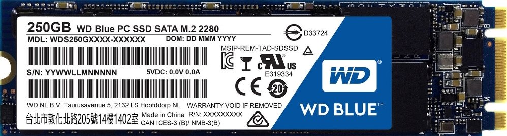 Жесткий диск SSD Western Digital Blue (WDS250G1B0B) 250Gb