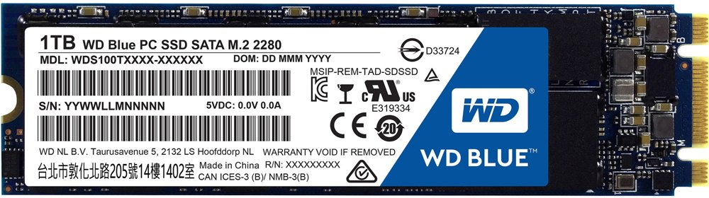 Жесткий диск SSD Western Digital Blue PC SSD (WDS100T1B0B) 1000 Gb