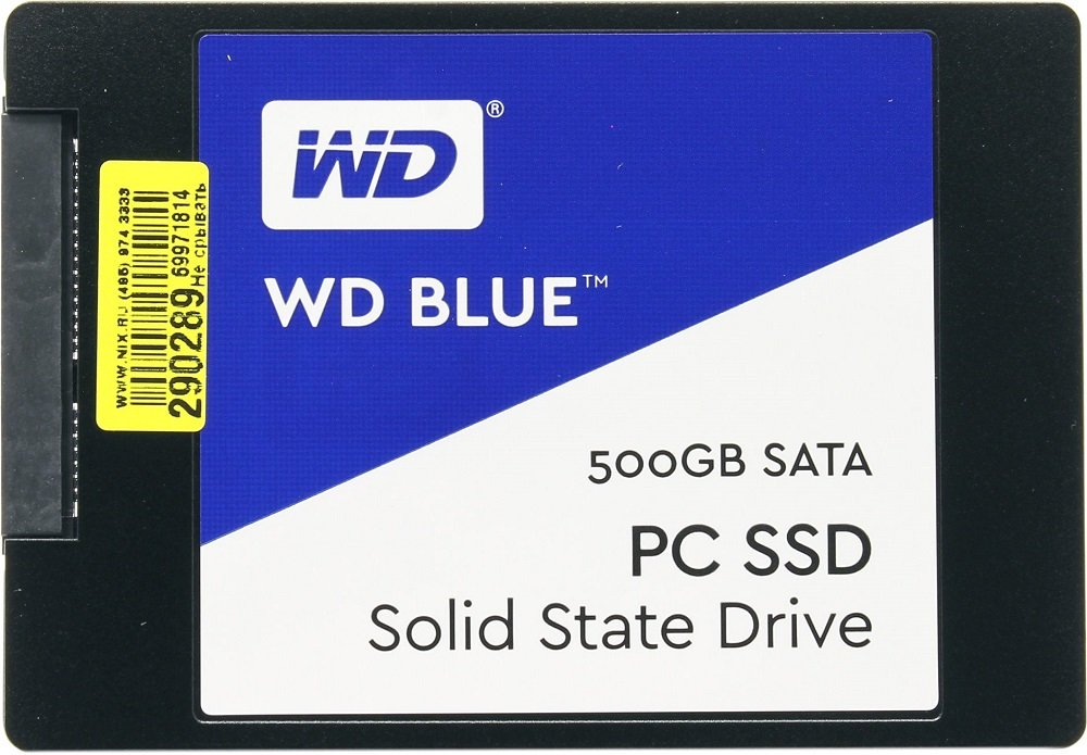 Жесткий диск SSD Western Digital Blue PC SSD (WDS500G1B0A) 500Gb