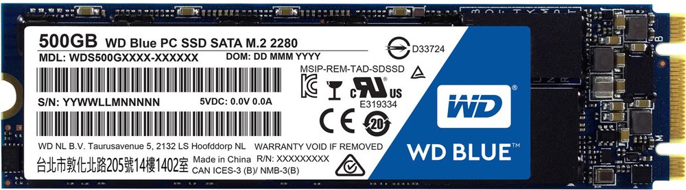 Жесткий диск SSD Western Digital Blue PC SSD (WDS500G1B0B) 500 Gb