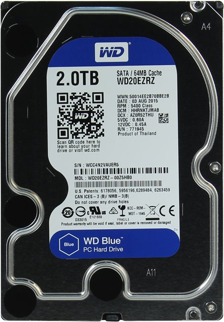 Жесткий диск Western Digital Blue (WD20EZRZ) 2000Gb фото