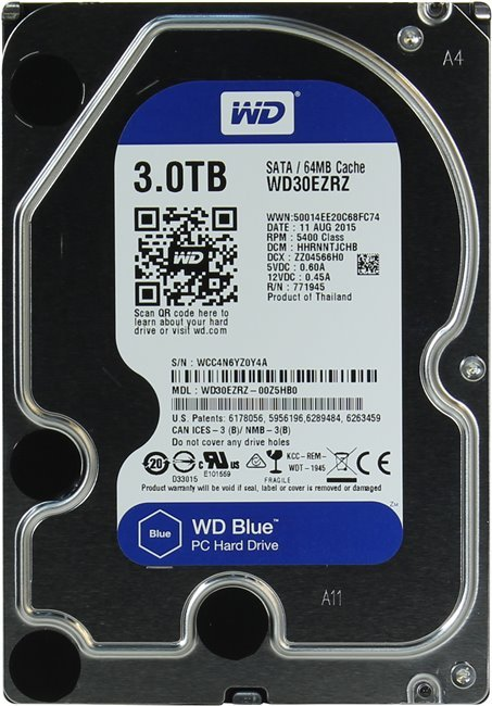 Жесткий диск Western Digital Blue (WD30EZRZ) 3000Gb фото