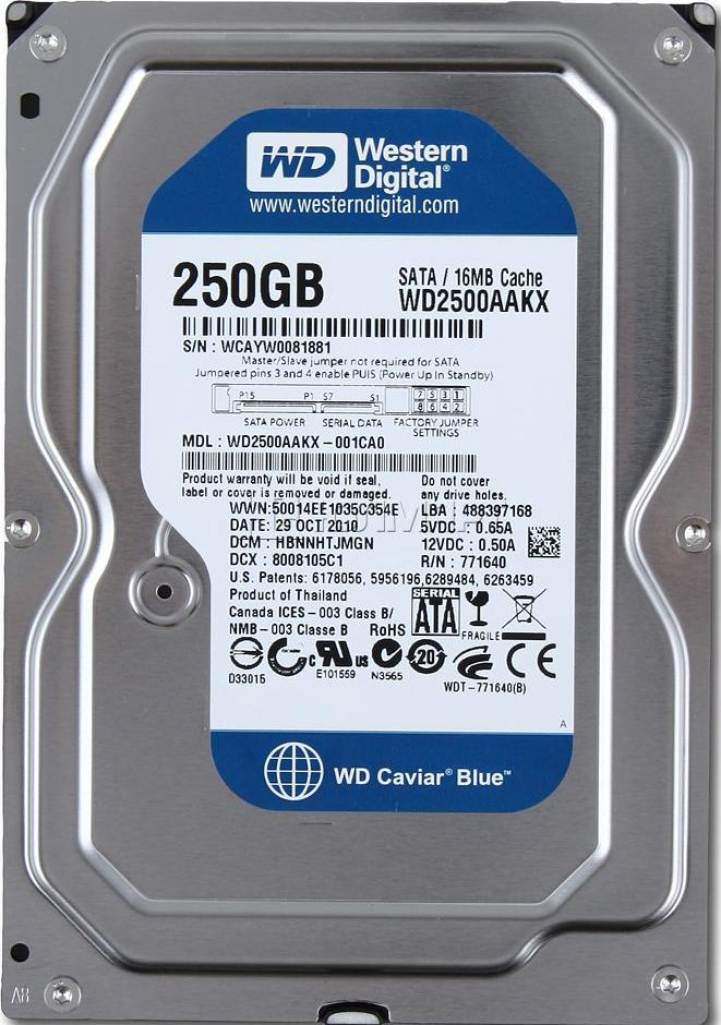 Жесткий диск Western Digital Caviar Blue (WD2500AAKX) 250 Gb