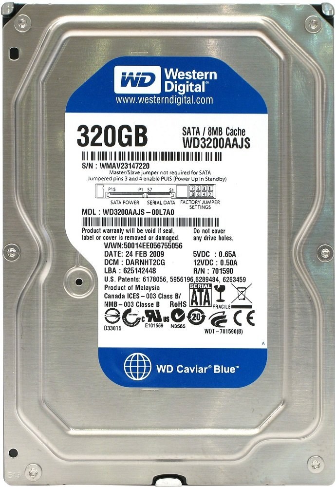 Жесткий диск Western Digital Caviar Blue (WD3200AAJS) 320 Gb фото