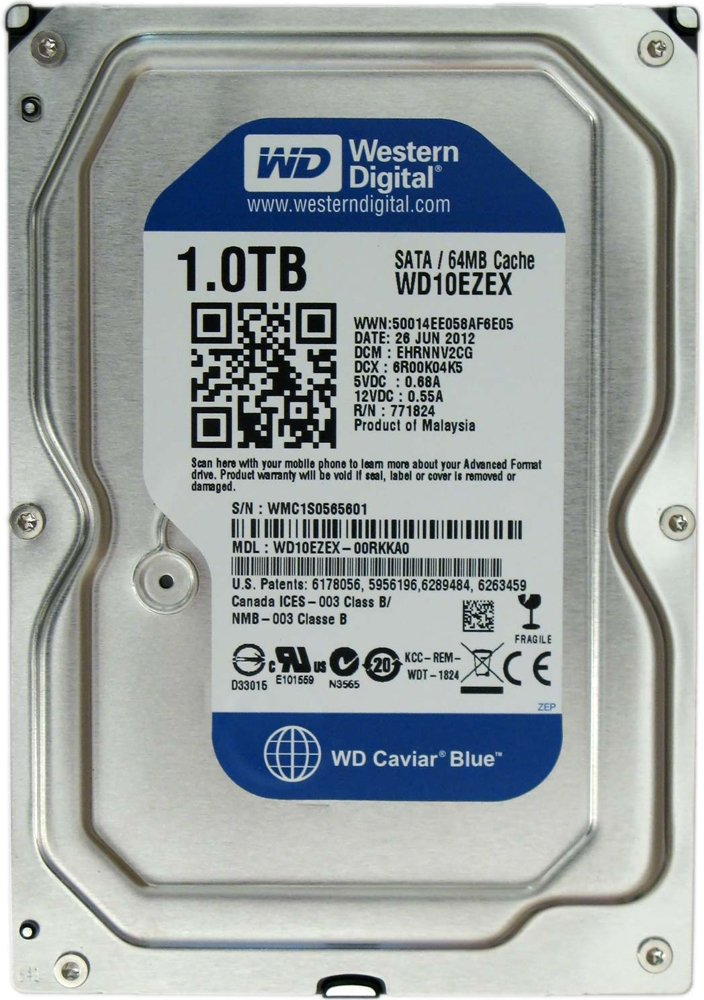 Жесткий диск Western Digital Caviar Blue (WD10EZEX) 1000 Gb