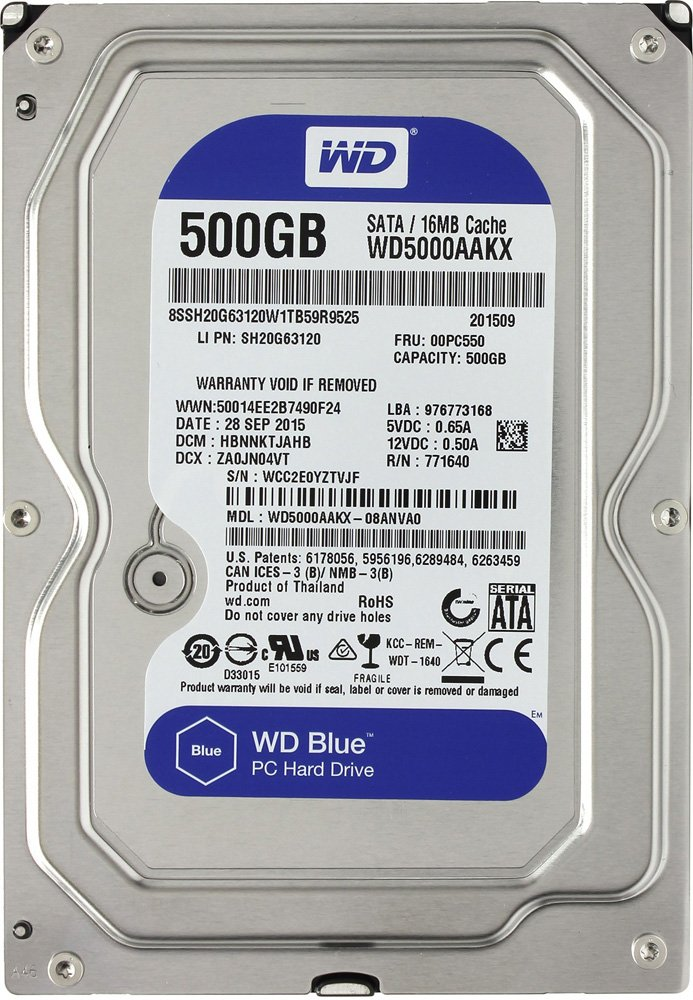 Жесткий диск Western Digital Caviar Blue (WD5000AAKX) 500 Gb фото