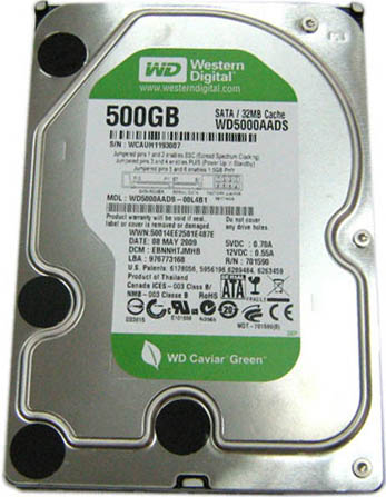 Жесткий диск Western Digital Caviar Green (WD5000AADS) 500 Gb фото