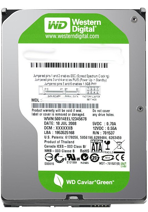 Жесткий диск Western Digital Caviar Green (WD7500AADS) 750 Gb