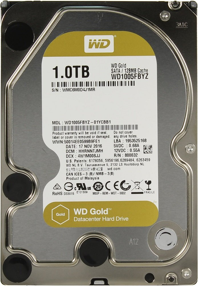 Жесткий диск Western Digital Gold (WD1005FBYZ) 1000Gb фото