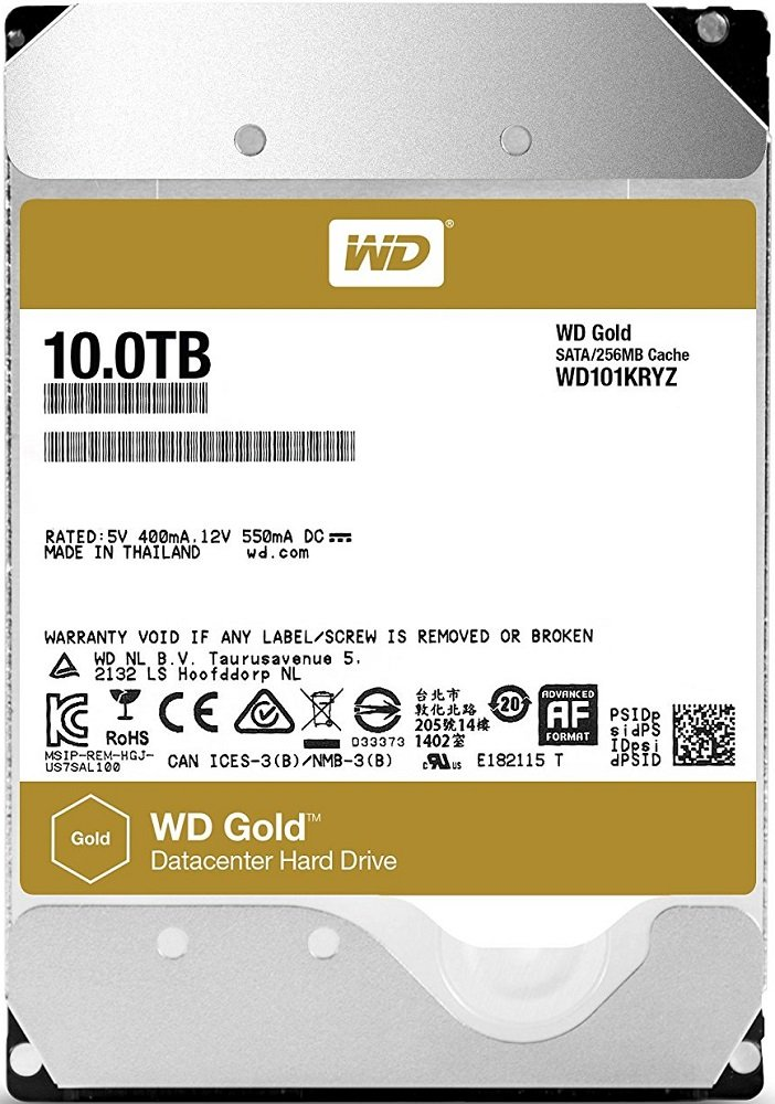 Жесткий диск Western Digital Gold (WD101KRYZ) 10000Gb