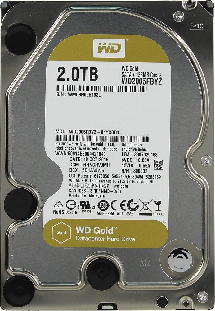 Жесткий диск Western Digital Gold (WD2005FBYZ) 2000Gb