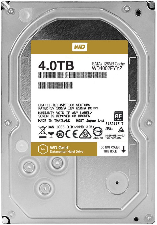 Жесткий диск Western Digital Gold (WD4002FYYZ) 4000 Gb