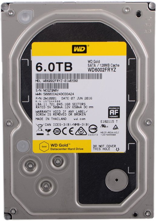 Жесткий диск Western Digital Gold (WD6002FRYZ) 6000 Gb фото