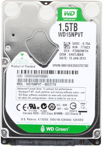 Жесткий диск Western Digital Green (WD15NPVT) 1500 Gb