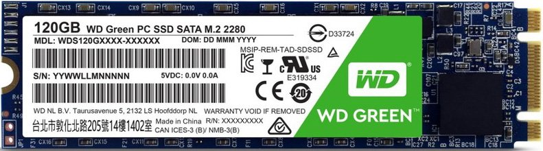 Жесткий диск SSD Western Digital Green (WDS120G1G0B) 120Gb