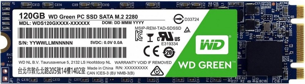 Жесткий диск SSD Western Digital Green (WDS120G2G0B) 120Gb фото