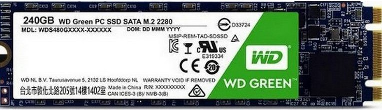 Жесткий диск SSD Western Digital Green (WDS240G1G0B) 240Gb